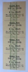 Lebensmittelkarten, Stadt Kempten Fleisch, Wurst, Mai-Juni 1920 ♥ (X142)
