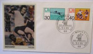 Fußball WM 1974 Franz Beckenbauer Deutschland FDC (31076)