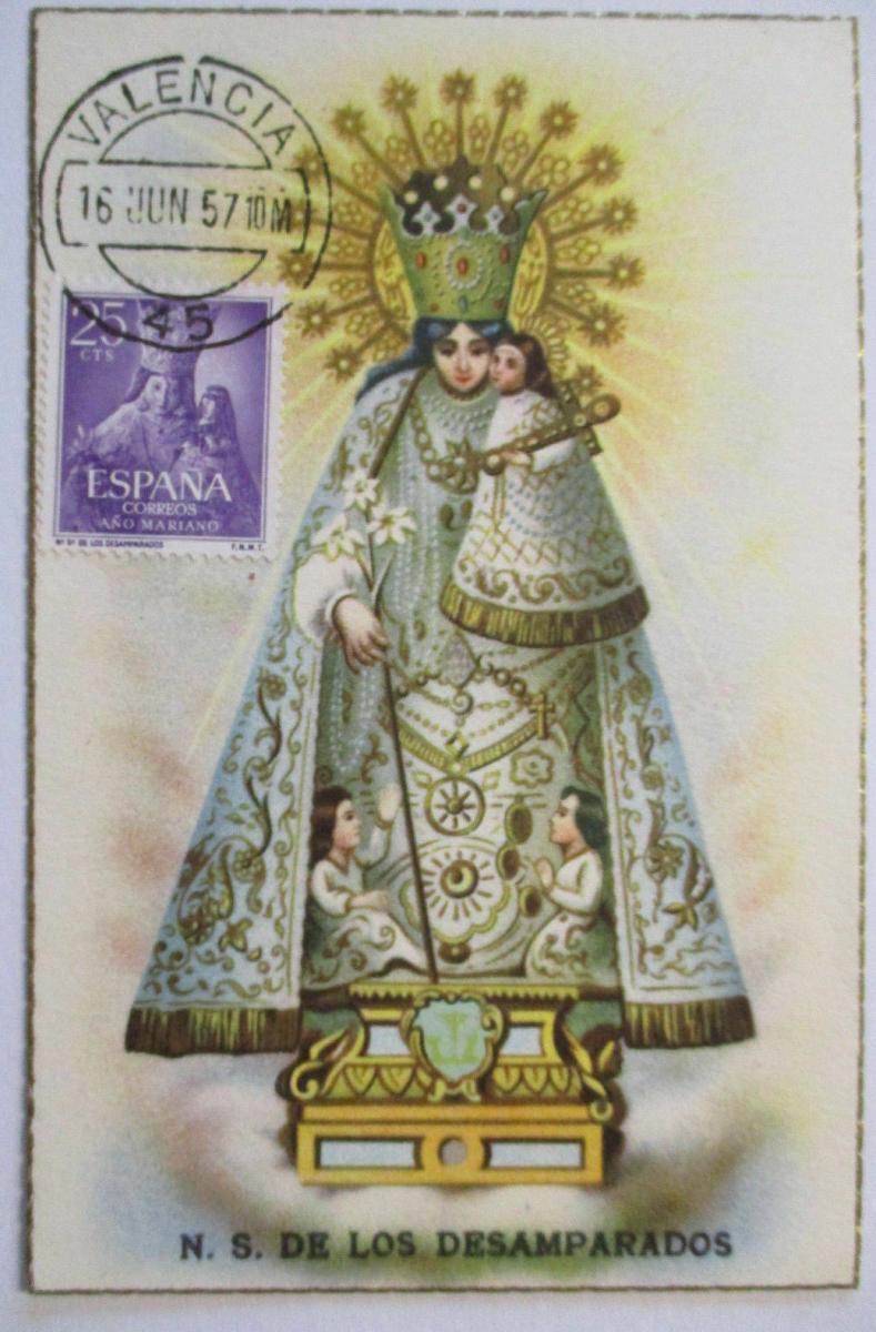 Spanien, Maximumkarte Religion Maria, 1957 (48274) 0