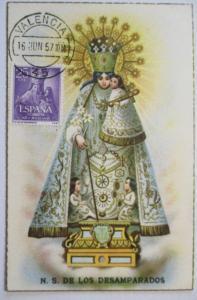 Spanien, Maximumkarte Religion Maria, 1957 (48274)