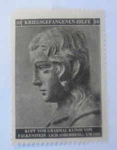 Vignetten Deutschland Kriegsgefangenen-Hilfe, Kopf vom Grabmahl ♥ (47717)