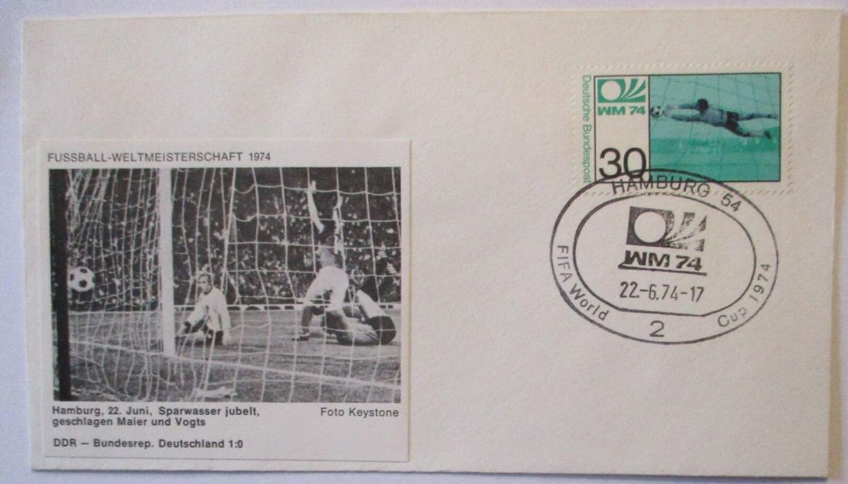 Fußball WM 1974 Deutschland - DDR, Sparwasser Maier und Vogts (25583) 0