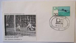 Fußball WM 1974 Deutschland - DDR, Sparwasser Maier und Vogts (25583)