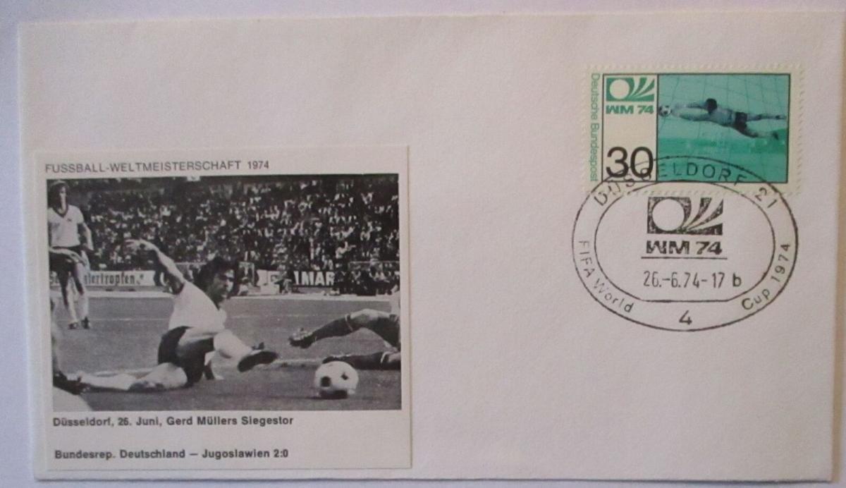 Fußball WM 1974 Deutschland - Jugoslawien Gerd Müller Tor (22969) 0