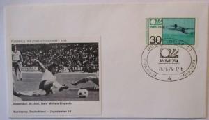 Fußball WM 1974 Deutschland - Jugoslawien Gerd Müller Tor (22969)