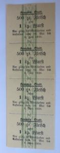 Lebensmittelkarten, Stadt Kempten Fleisch, Wurst, Mai-Juni 1920 ♥ (X139)