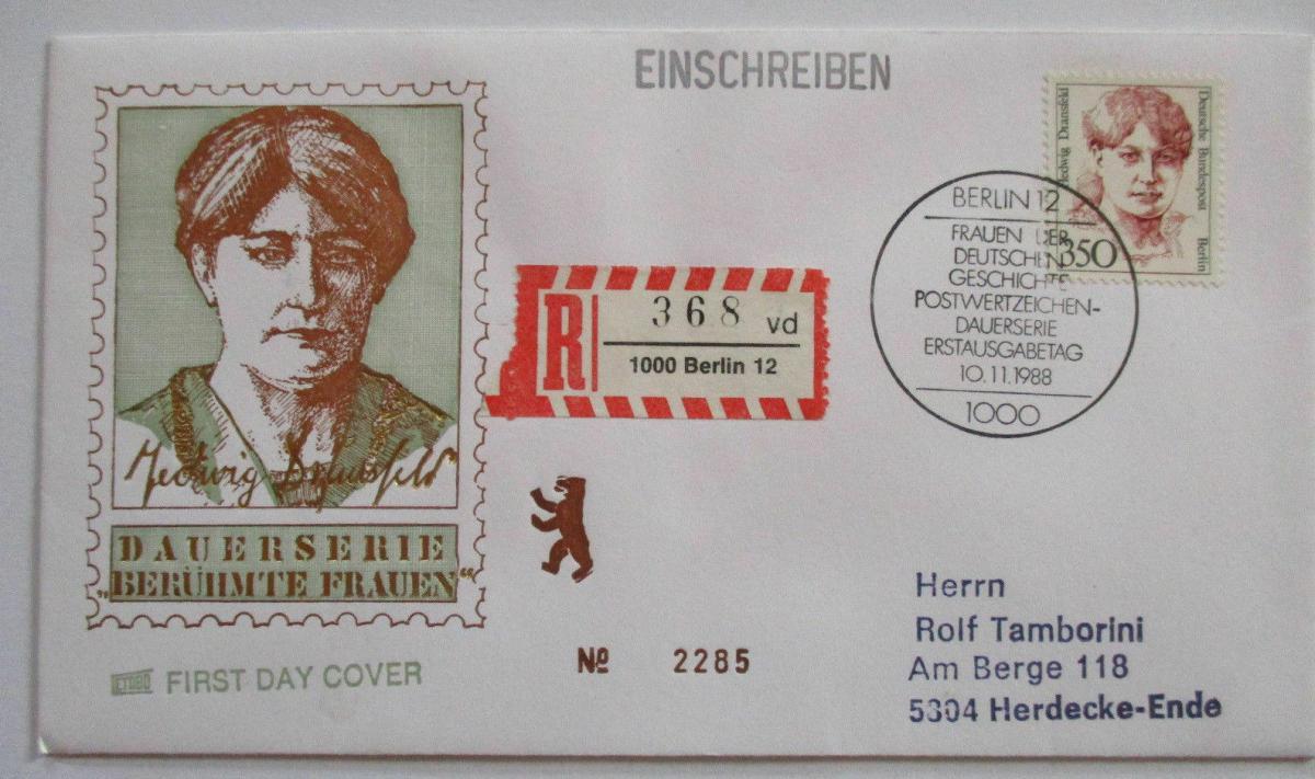 Berlin Frauen Nr. 828 R-FDC (45702) 0