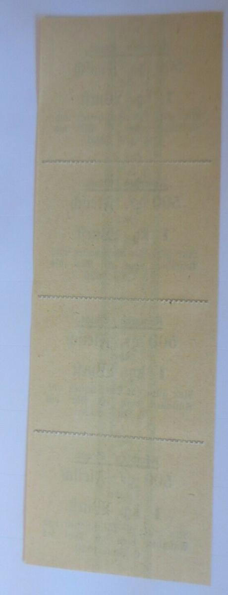Lebensmittelkarten, Stadt Kempten Fleisch, Wurst, Mai-Juni 1920 ♥ (X138) 1