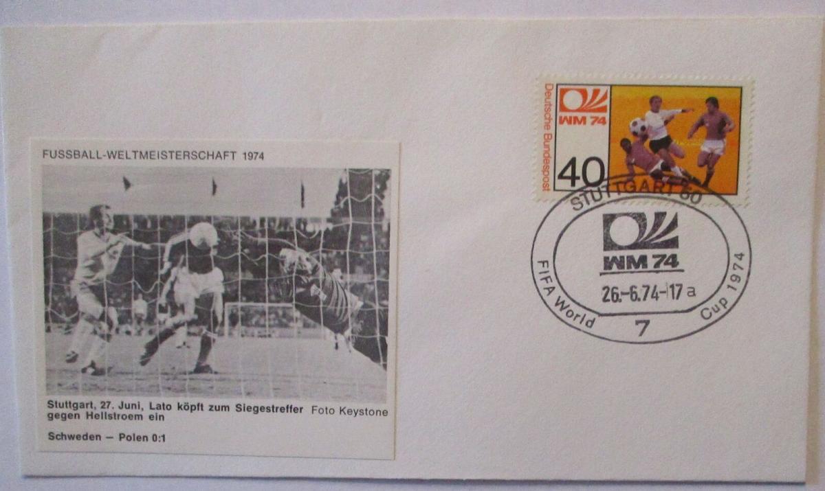Fußball WM 1974 Schweden - Polen, Lato köpft zum Siegestreffer (19316) 0