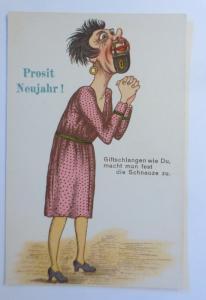 Neujahr, Giftschlangen wie Du, macht man fest die Schnauze zu,  1930 ♥ (41411)