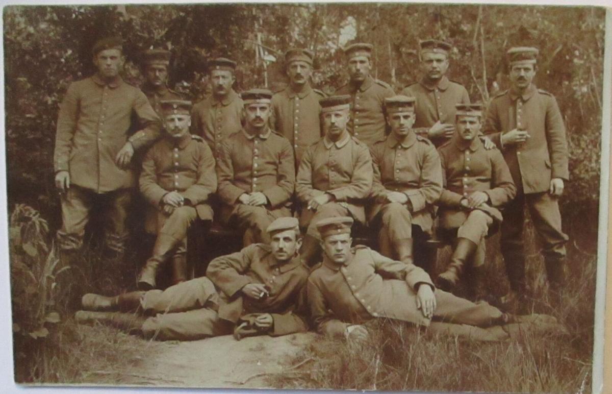 Frankreich Soldaten Garde Ersatz Division 1916 nach Anspach (18452) 0