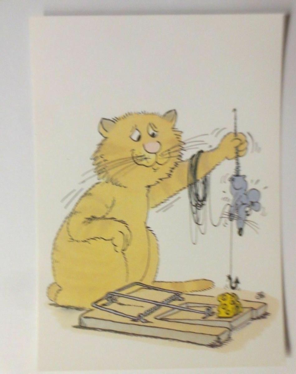 Cartoon, Katzen, Maus,  1980, Uli Stein   ♥ (335) 0
