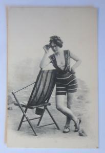 Bademoden, Frauen, Meer, Strand, Fernrohr,   1910 ♥ (19477)