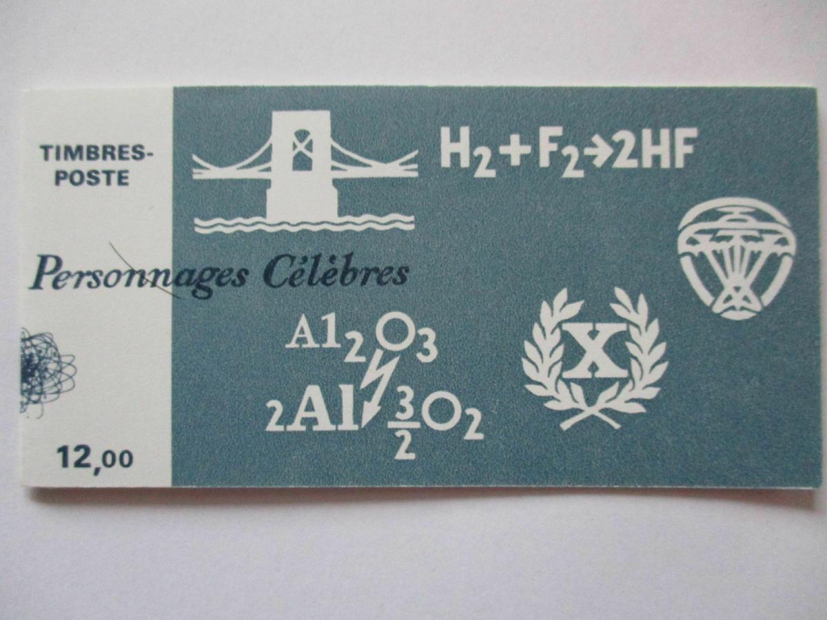 Frankreich, Markenheftchen Wissenschaftler 1986 postfrisch 0