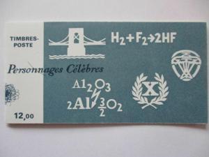 Frankreich, Markenheftchen Wissenschaftler 1986 postfrisch