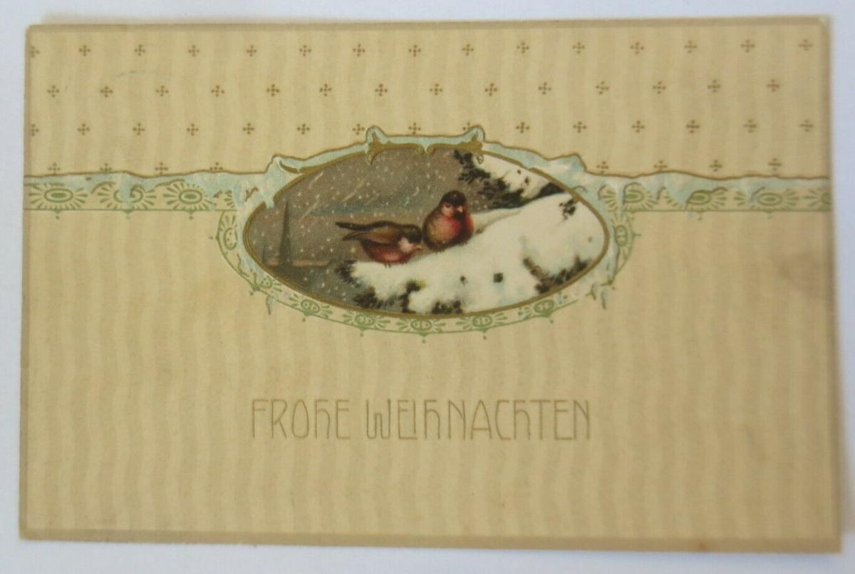 Weihnachten, Vogel, Tannenbaum, Winter, 1911 ♥ (29747) 0