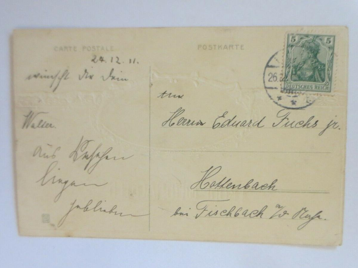 Weihnachten, Vogel, Tannenbaum, Winter, 1911 ♥ (29747) 1