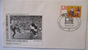 Fußball WM 1974 Argentinien - Brasilien, Jairzinho und Carnevali (17075)