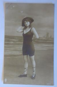 Bademoden, Frauen, Meer, Strand,   1910 ♥ (23287)
