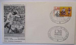 Fußball WM 1974 Polen Deutschland, Hoeness Gorgon in der Wasserschlacht (17028)