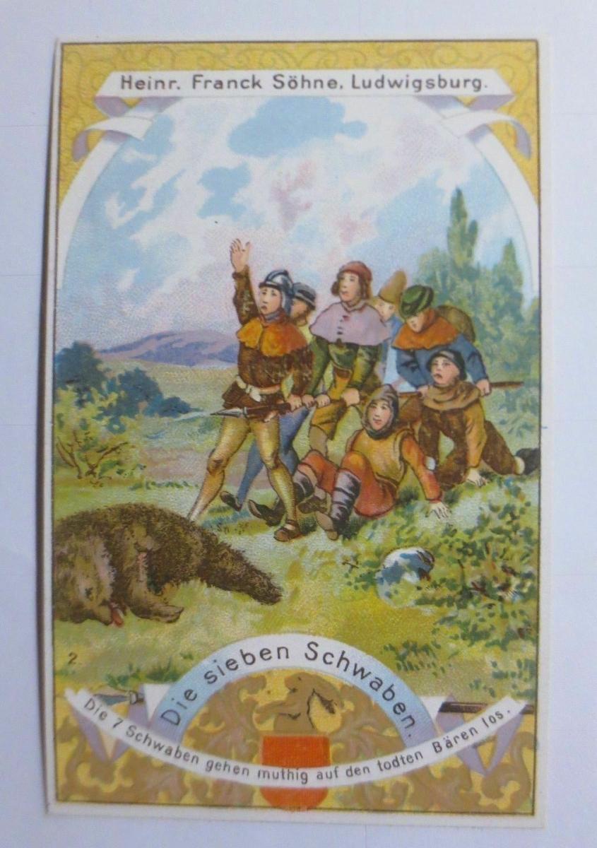 Sammelbild, Aecht Frank, Kaffee-Zusatz, Die sieben Schwaben ♥  (63777) 0