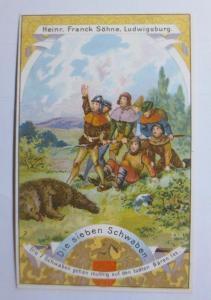 Sammelbild, Aecht Frank, Kaffee-Zusatz, Die sieben Schwaben ♥  (63777)