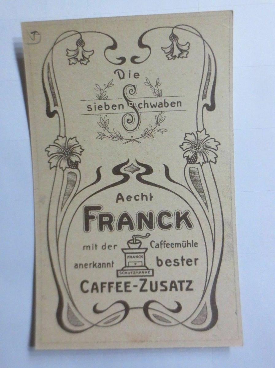 Sammelbild, Aecht Frank, Kaffee-Zusatz, Die sieben Schwaben ♥  (63777) 1