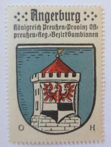 Reklamemarke-Kaffee Hag, Wappen von Angerburg, Königreich Preußen 1910♥ (24108)
