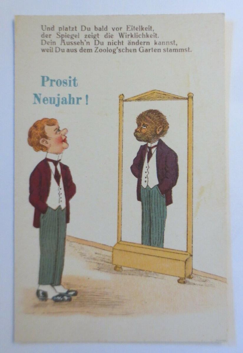 Und platzt Du bald vor Eitelkeit,der Spiegel zeigt die Wirklichkeit,1930♥(41422) 0