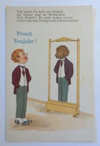 Und platzt Du bald vor Eitelkeit,der Spiegel zeigt die Wirklichkeit,1930♥(41422)