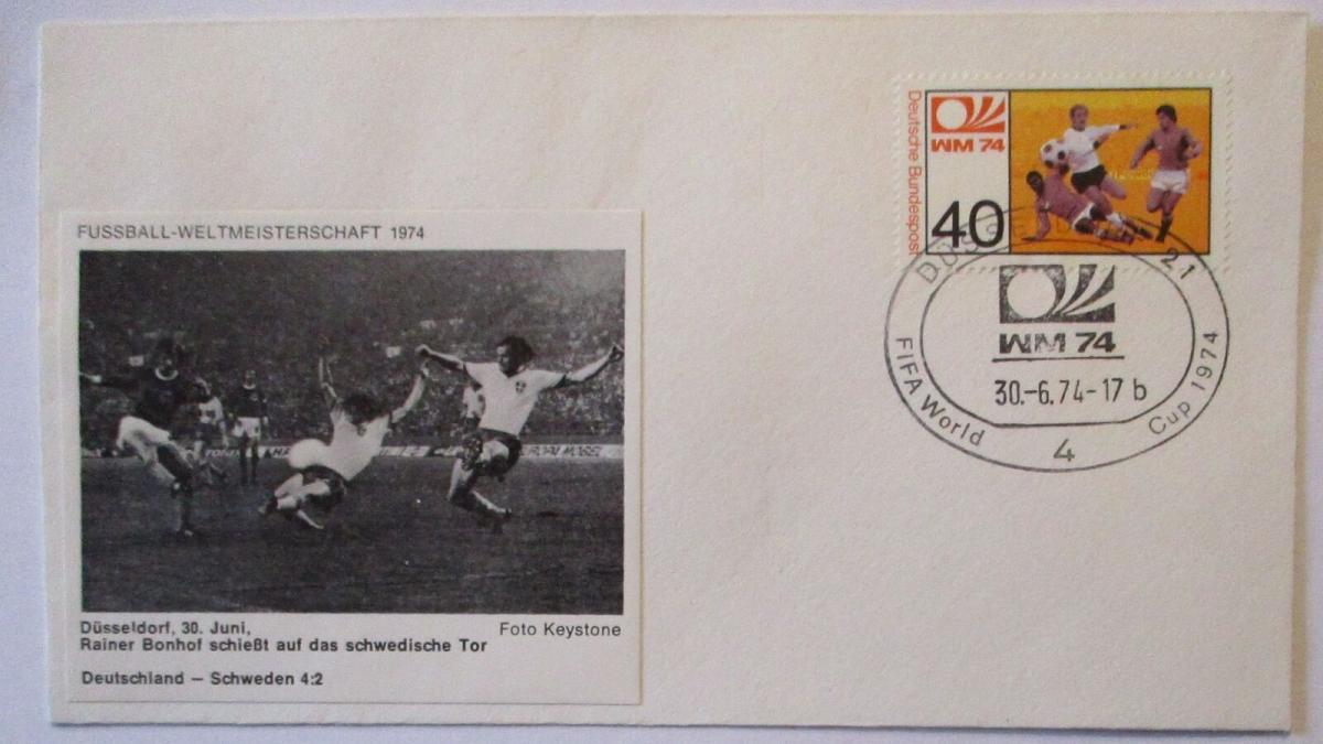 Fußball WM 1974 Deutschland - Schweden, Rainer Bonhof (16800) 0
