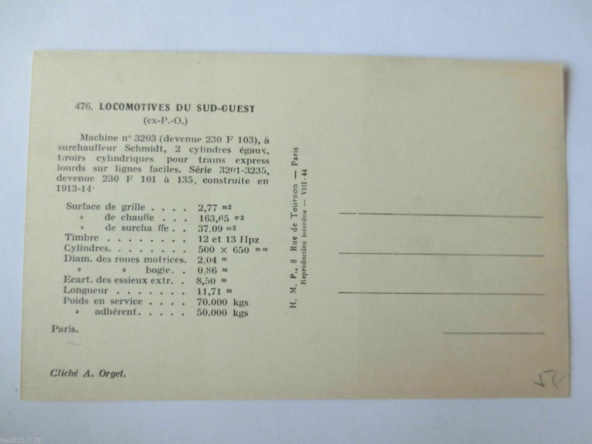 Eisenbahn, Lok, Lokomotive (Nr.476), ca. 1920 (32212) 1