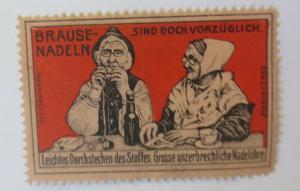 Vignetten  Brause-Nadeln große unzerbrechliche Nadelöhre  1910 ♥ (45276)