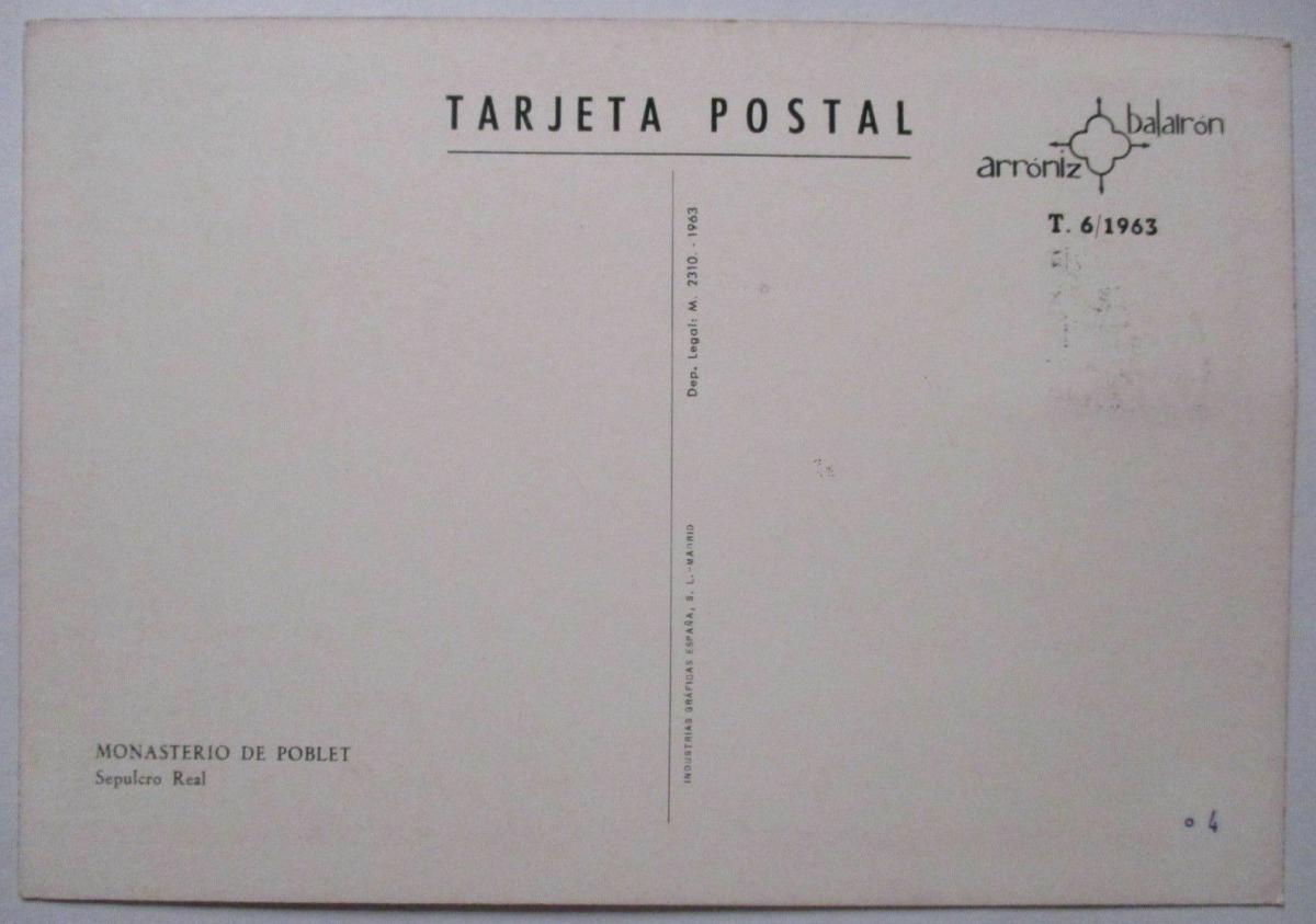Spanien Maximumkarte  von 1963 Monasterio de Poblet (42572) 1