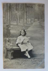 Kinder, Bank, Lesen, Mode,    1906 ♥ (41511)