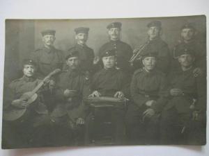 Deutsche Soldaten mit Musik Instrumente, Württemberg. Bahnpost 1912 (28248)