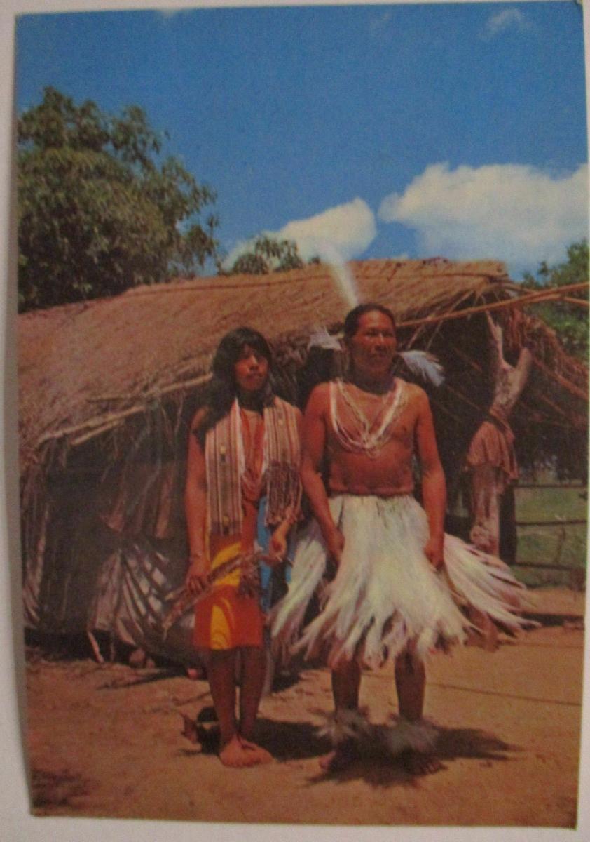 Paraguay, Indios, Fotokarte nach Kreuztal (13831) 0
