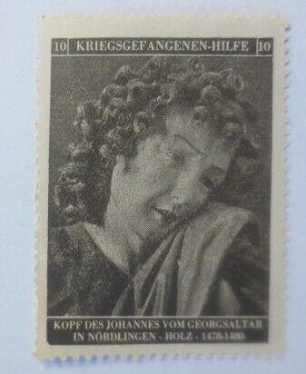 Vignetten Deutschland Kriegsgefangenen-Hilfe, Kopf des Johannes ♥ (40034) 0