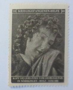 Vignetten Deutschland Kriegsgefangenen-Hilfe, Kopf des Johannes ♥ (40034)