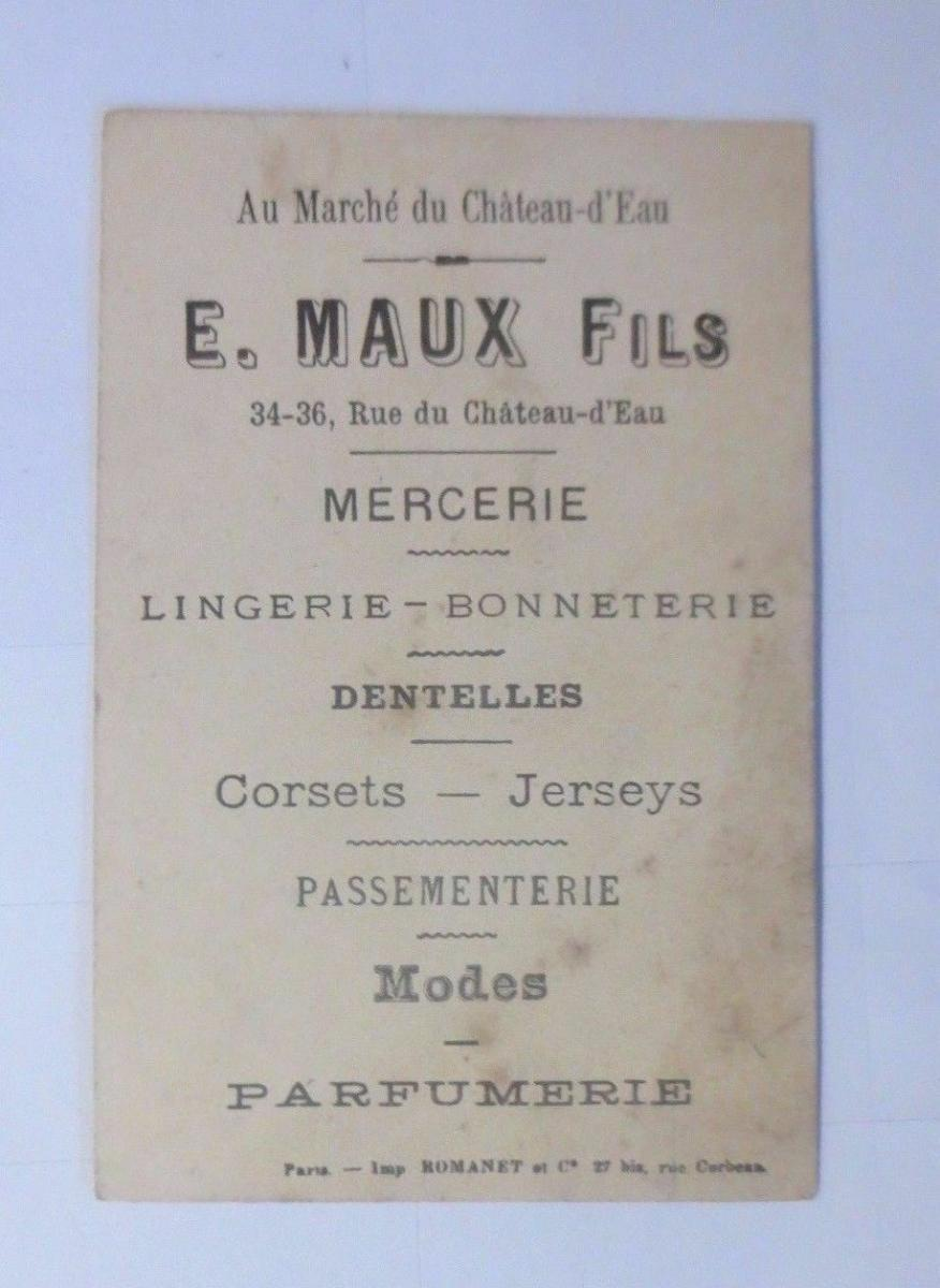 Kaufmannsbilder, E. Maux Fils, Parfumerie,  1900, Frankreich ♥ 1
