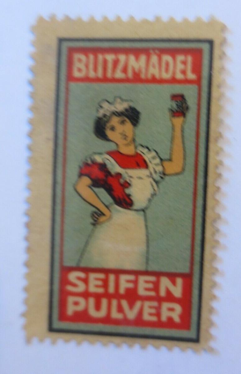 Vignetten Blitzmädel Seifen Pulver  1910  ♥ (65828) 0