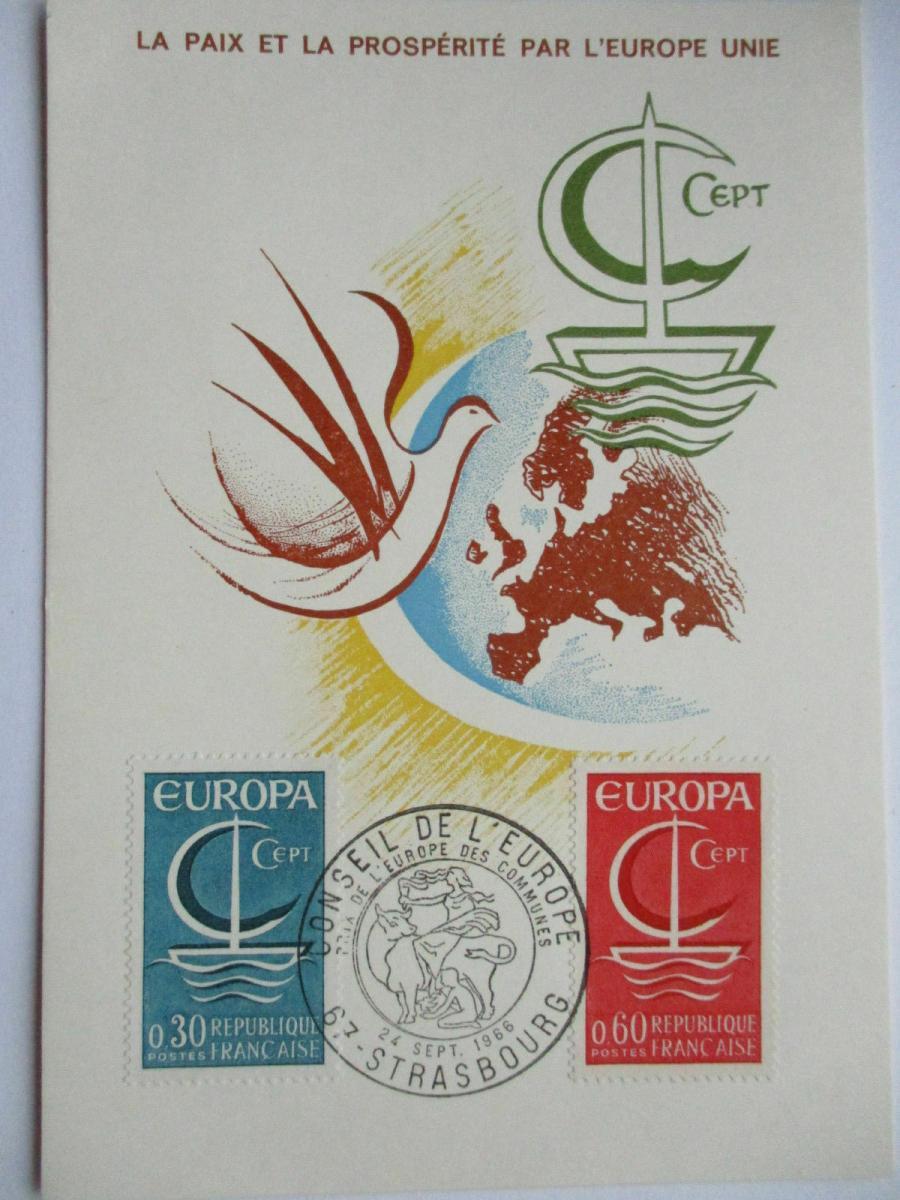 Frankreich, Maximumkarte von 1966, Europa Cept (39880) 0