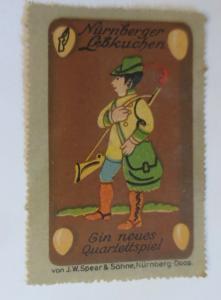 Vignetten Nürnberger Lebkuchen   Quartettspiel Nürnberg-Doos. 1910 ♥ (61635)