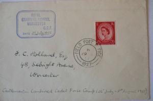 Großbritannien, Field Post Office 1955, Royal Grammar School Worcester