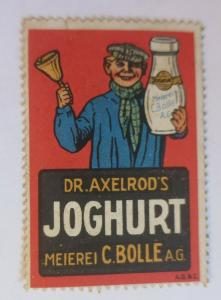 Vignetten  Dr. Axelrod´s Joghurt Meierei C. Bolle A.G.  1910 ♥ (51904)