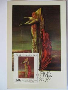 Tschechoslowakei, Kunst Maximumkarte, Requiem, 1969 (39313)