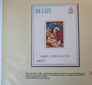 Belize Block Weihnachten 1980 postfrisch (41443)