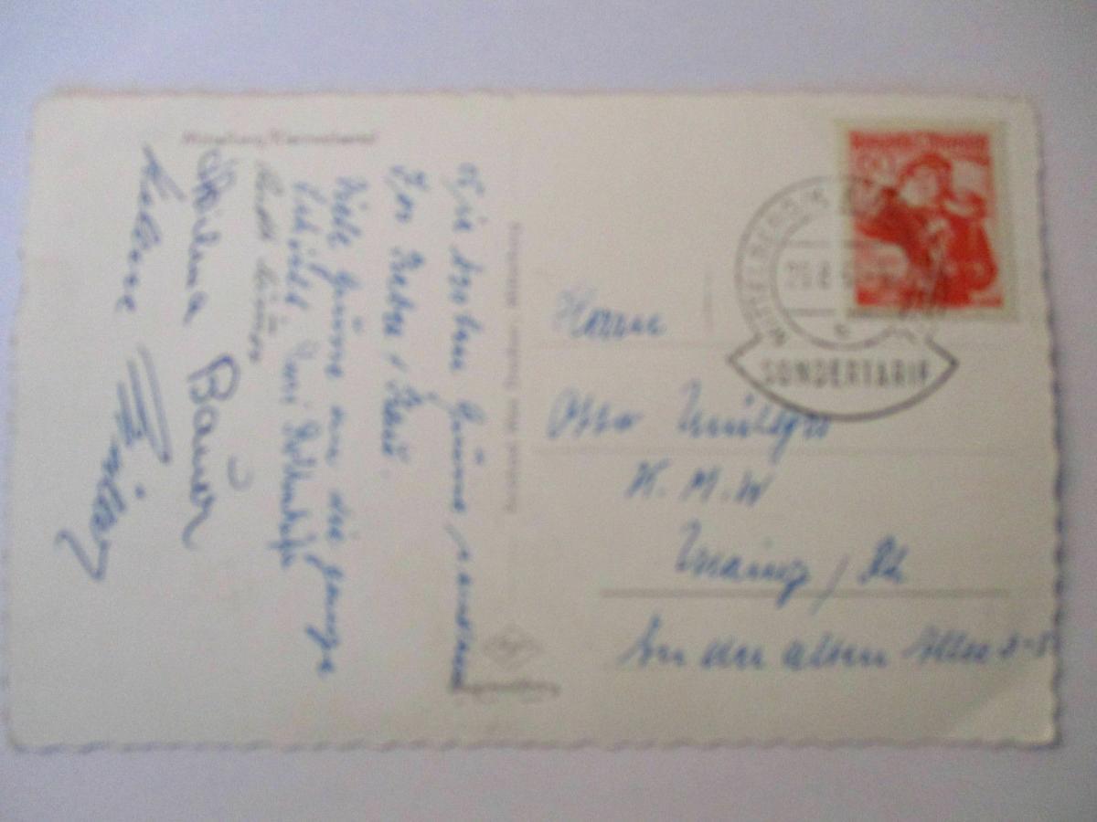 Österreich, Sondertarif Kleinwalsertal, Mittelberg 1957 0
