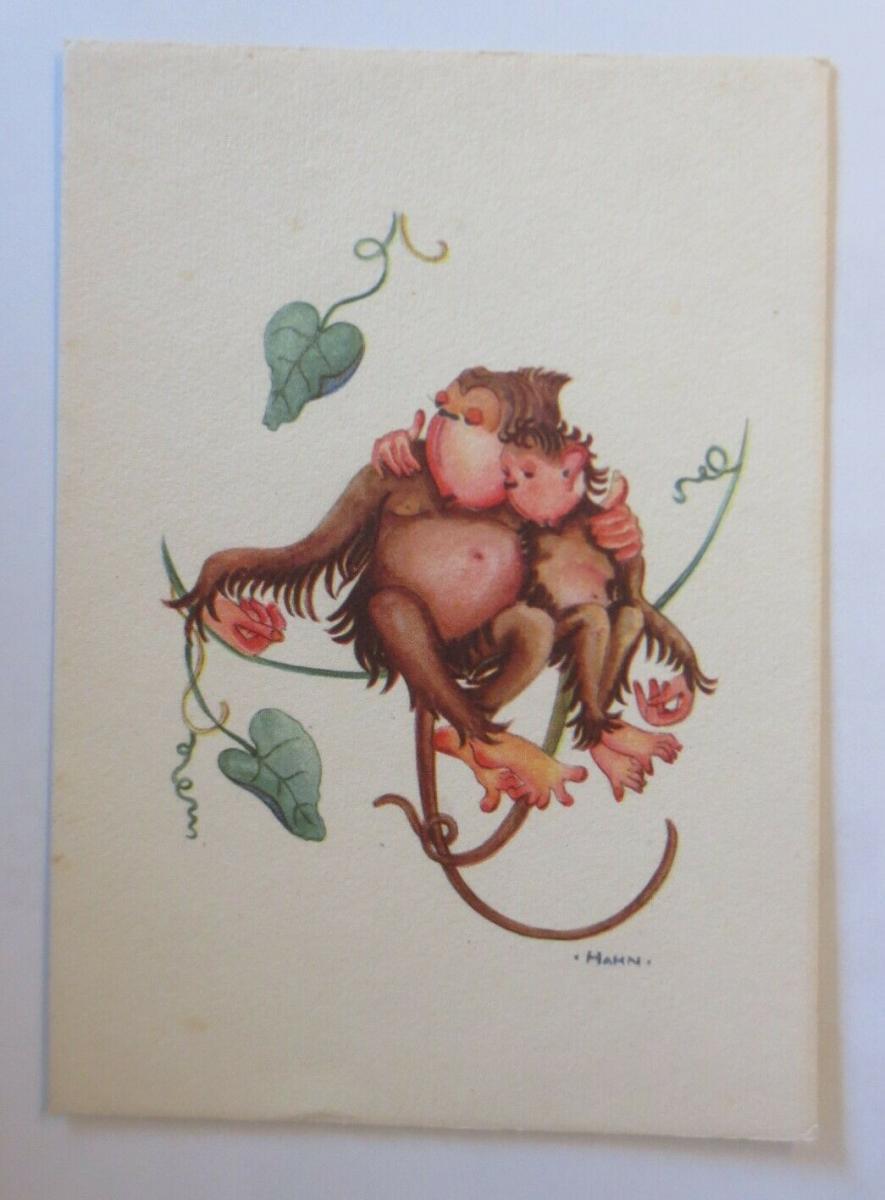 Affen, Schaukeln,  1950, Hahn ♥ (41391) 0