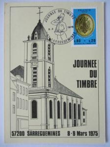Frankreich, Maximumkarte Tag der Briefmarke 1975 (37456)